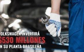 Volkswagen invertirá $530 millones en su planta brasileña