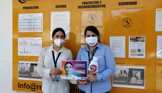 Continental apoya campaña contra la violencia hacia las mujeres